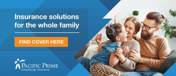 Family insurance banner