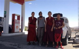 Michelle Jana Chan with Mongolian monks