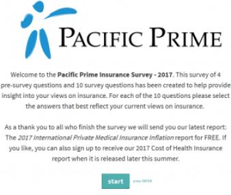 Pacific Prime's Insurance Survey