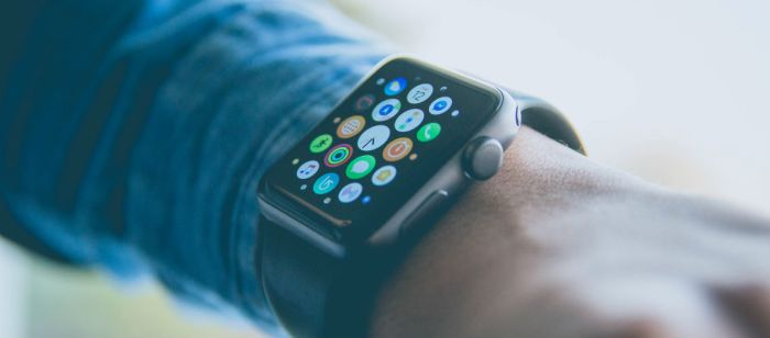 Mobile apps are used to provide real-time monitoring of patients' body condition