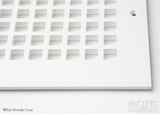 Cast Aluminum Vent Covers Square Pattern white CU