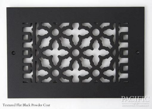 Cast Aluminum Vent Covers Victorian Pattern Black