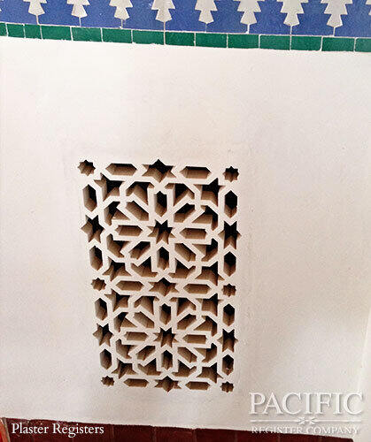 Plaster with tile Pacific Register