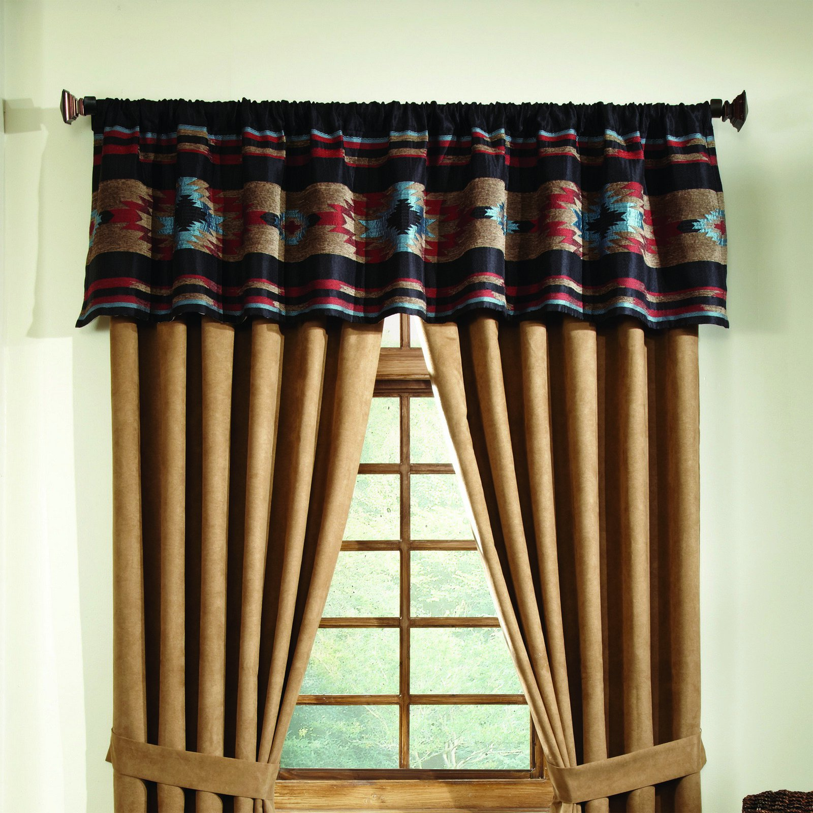 Rust Tailored Valance