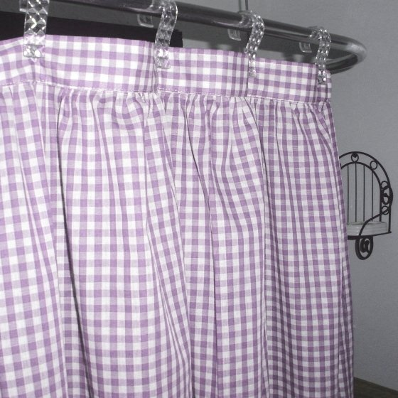 Light Purple Gingham Check Shower Curtain