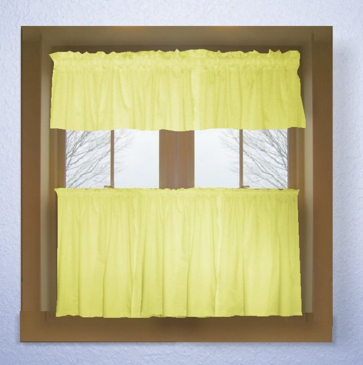 Light Yellow Curtains Solid Colored