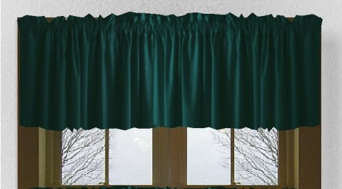 Solid Dark Teal Valance 74 Wide X 15 Long With White Lining