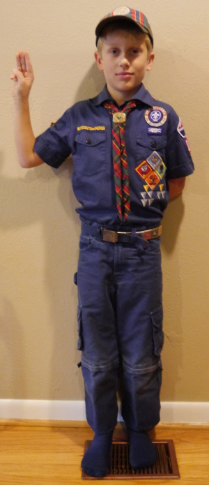 Example Cub Scout field uniform