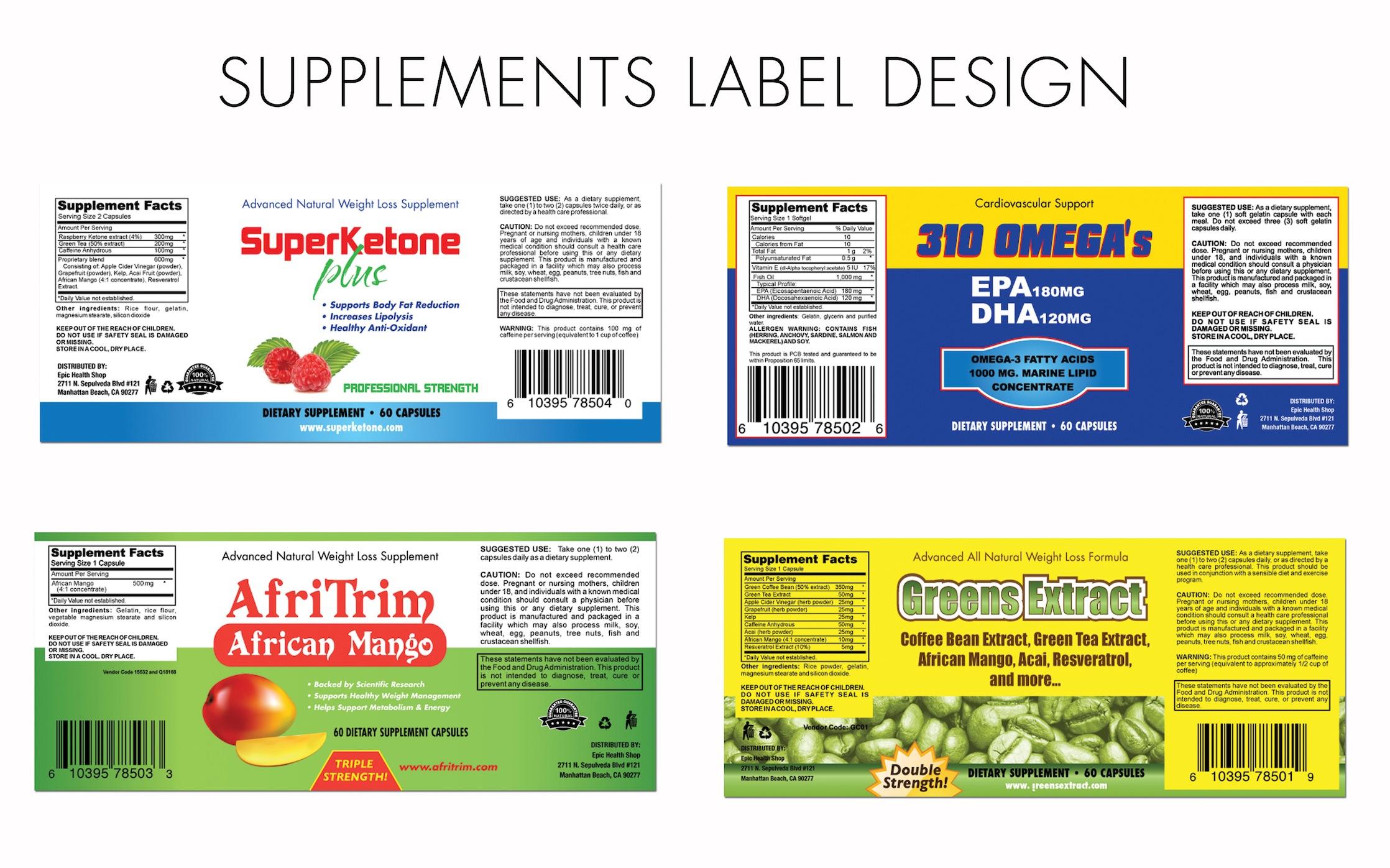 Label Design Portfolio High Quality Custom Labels