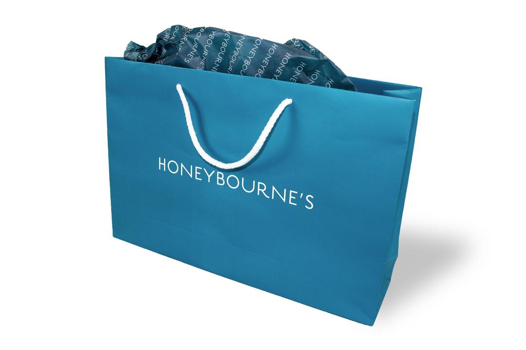 bespoke custom printed bags luxury rope handle