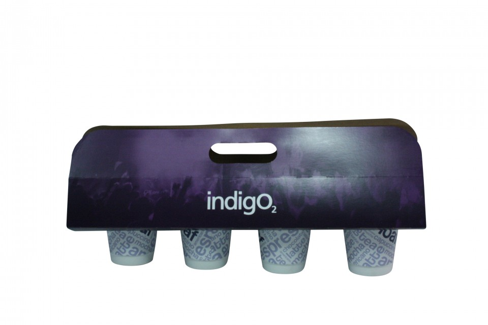 bespoke custom printed drinks carriers and cup holders hot or cold cups