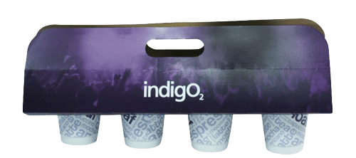 bespoke printed cup holders or drinks carrier