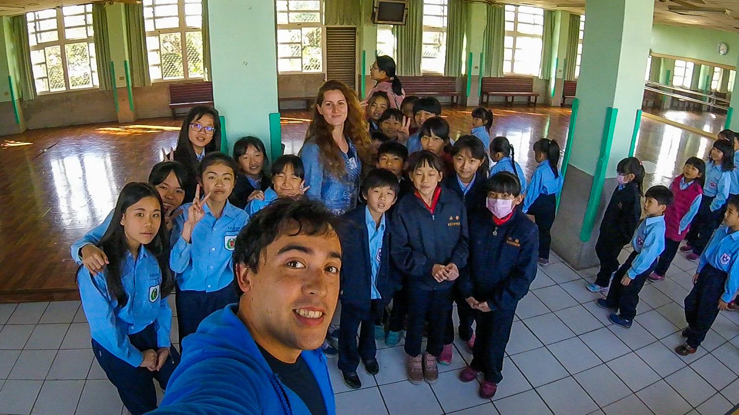 Volunteering at a Taiwanese school