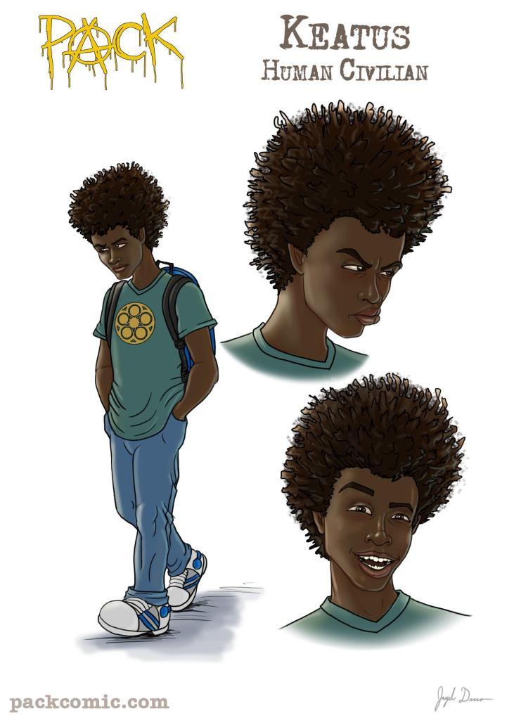 Bio Pic of Keatus young black boy