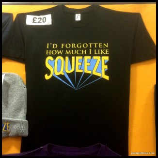 Cradle To The Grave tour 2015 - Squeeze Merchandise