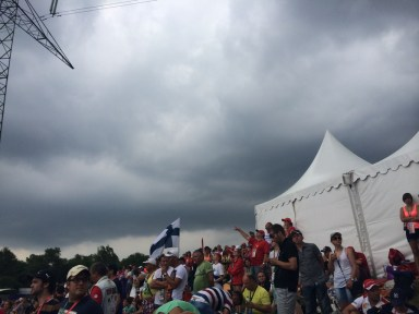 Rainy day on race day!