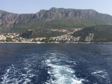 Kaş seen from the boat