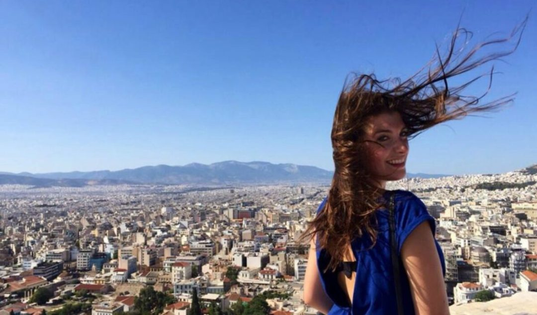 MOTM Jessica Nemire at the Acropolis, in Greece | Millennial Travel