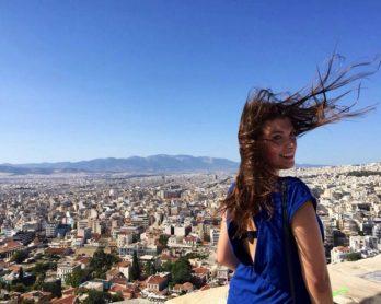 MOTM Jessica Nemire at the Acropolis, in Greece | Millennial Travel