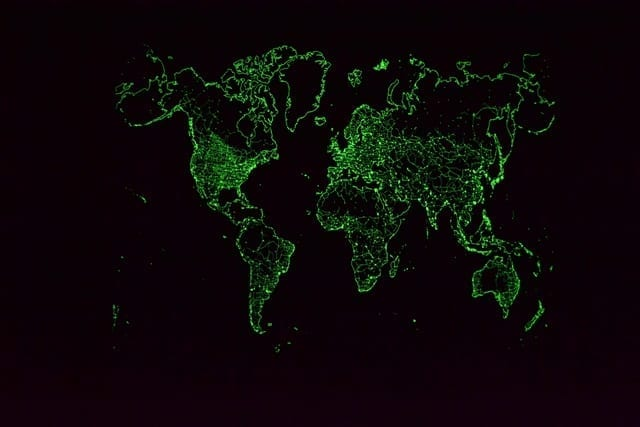 Glow in the Dark Map by Maps International