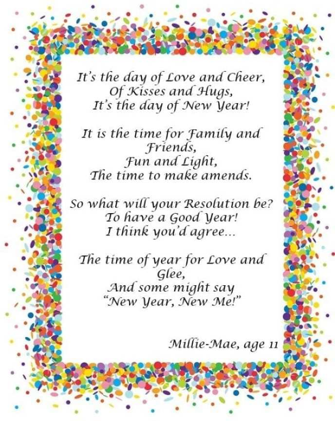 Millie-Mae\'s Poem: Happy New Year from PackThePJs