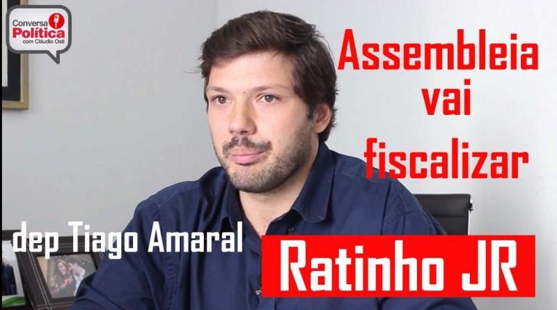 Assembleia vai fiscalizar Ratinho Jr, é o que diz o reeleito Tiago Amaral, que também está de olho na Prefeitura de Londrina