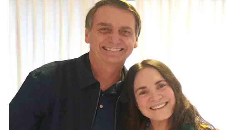 Regina Duarte conversará hoje com Bolsonaro sobre a Cultura
