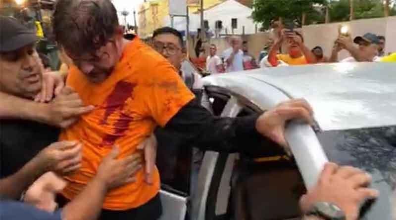 Cid Gomes tenta invadir quartel com trator e é atingido por dois tiros