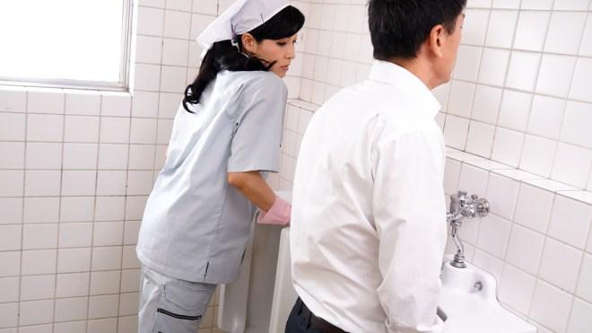 無修正 森下夕子 便所で悶える清楚な掃除婦 無修正動画と無料画像