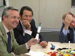 Ramón Pichel, Jesús Portilla y David García presentando el modelo