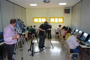 Medios de comunicación en la Rueda de Prensa.