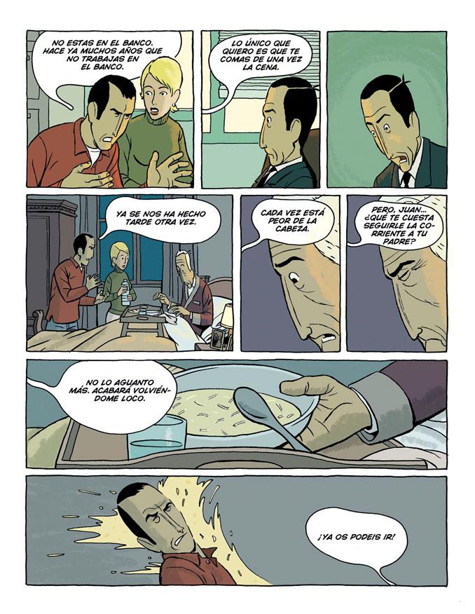 Segunda página de Arrugas, de Paco Roca, dispobibles en la web del autor