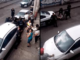 Se enfrentan policías y habitantes de la GAM por despojo de armas de cargo #VIDEO