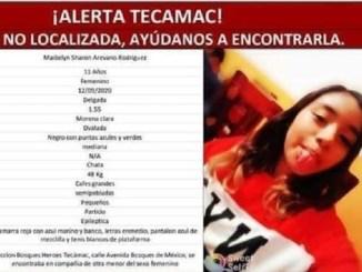 Maybelyn tiene 11 años y desapareció en Tecámac #AlertaAmber