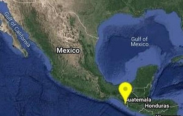 Se registra sismo de 5.5 grados al noroeste de Huixtla, Chiapas