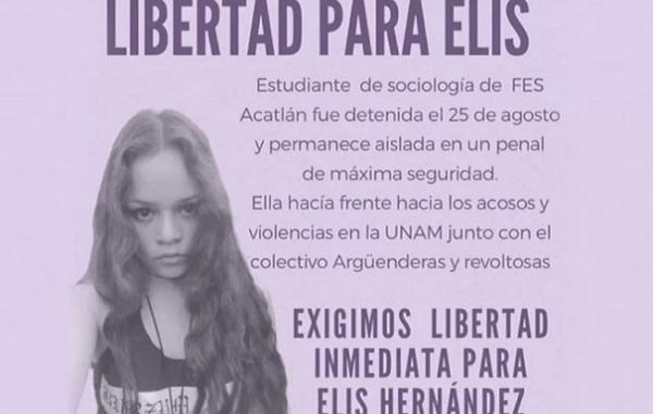 Liberan a estudiante encarcelada por protesta en FES Acatlán