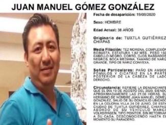 Juan Manuel desapareció abordo de su automóvil en Chiapas, su familia lo busca