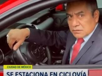 Supuesto abogado invade ciclovía en la Glorieta de Insurgentes e insulta a ciclista #VIDEO