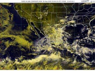 Conagua informa que se formó la tormenta tropical Julio al sur-suroeste de las costas de Zihuatanejo