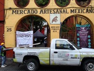 Remodelan el mercado de artesanías de Coyoacán; artesanos no serán reubicados