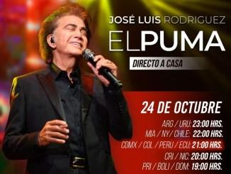 """José Luis Rodríguez """"El Puma"""" directo a casa con show online"""