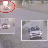 #VIDEO del momento en que estalla una granada dentro de una camioneta del Cártel Gente Nueva en Sonora