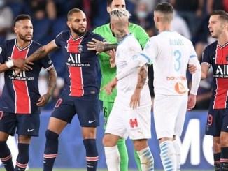 Neymar es suspendido por abofetear a Álvaro González en el partido entre PSG y Olympique de Marsella #VIDEO