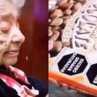 Abuelita reacciona al nuevo etiquetado y se viraliza #VIDEO