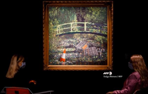 Imitación de un Monet hecha por Banksy es vendida en casi 10 mdd