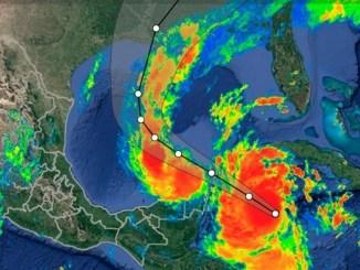 """Subiendo a Luisiana, en EU, huracán """"Delta"""" se fortalece y sube a categoría 3"""