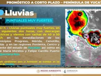 """Se esperan intensas lluvias en el sur del territorio nacional por el ciclón tropical """"Gamma"""" y el huracán """"Delta"""""""