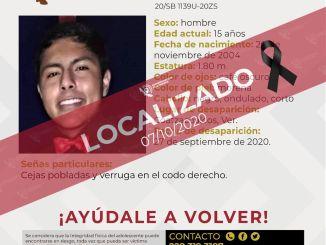 Localizan muerto a joven de 15 años, desaparecido en Coatzacoalcos