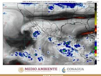 La Onda Tropical Número 40 generará lluvias sobre las costas del Pacífico Sur mexicano