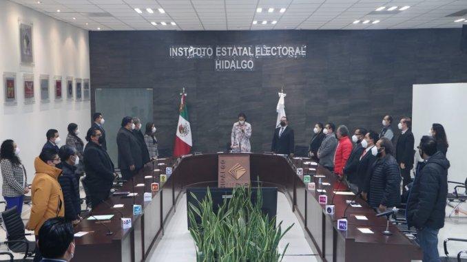Consejo del Instituto Electoral Electoral de Hidalgo se declara en sesión permanente